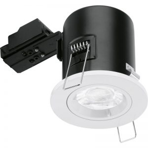 Aurora GU10 Fixed Lock Ring Aluminium Fire Rated Downlight