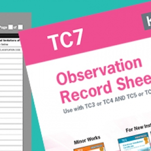 Kewtech TC7 Observations and Remarks Record Sheet